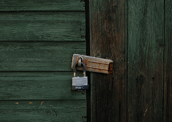 Image of padlocked door
