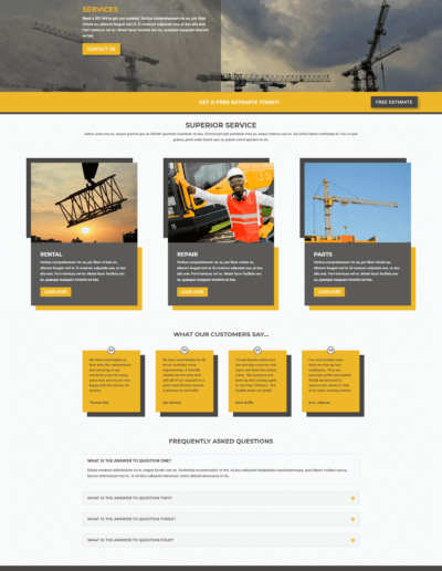 Service Page(s)