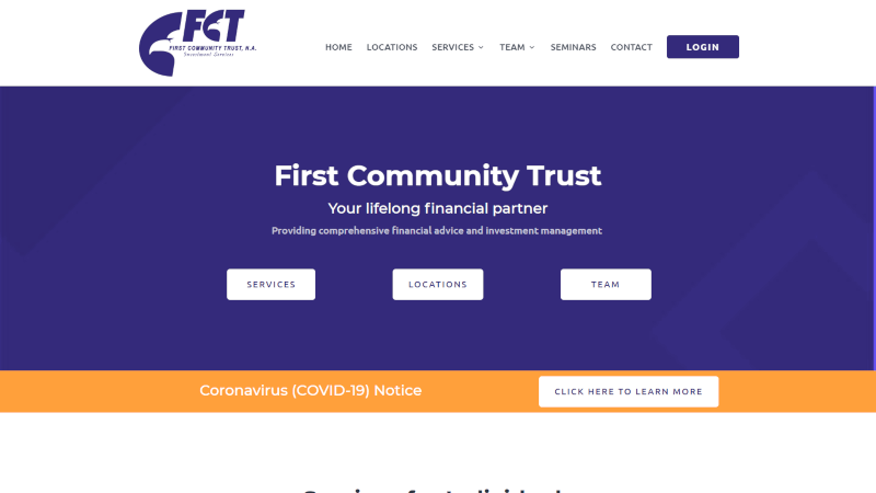 First Community Trust Website
