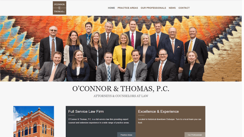 O'Connor & Thomas, P.C. website