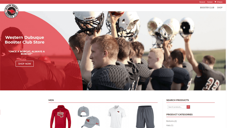 Western Dubuque Booster Club Website