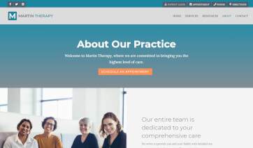 Screenshot of the growing practice therapy template
